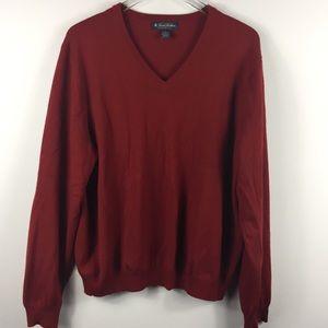 Brooks Brothers V-neck Merino blend sweater.